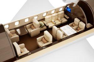 Challenger 605 Cabin Layout